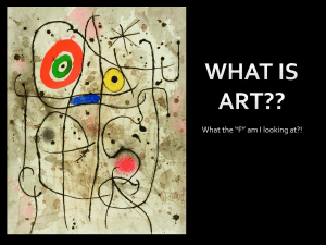 Class 001 WHAT IS ART