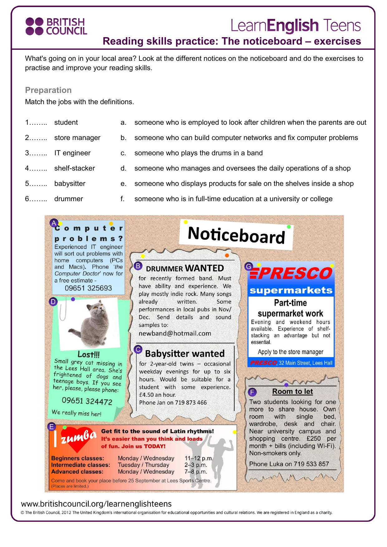 - The Noticeboard - Exercises 2
