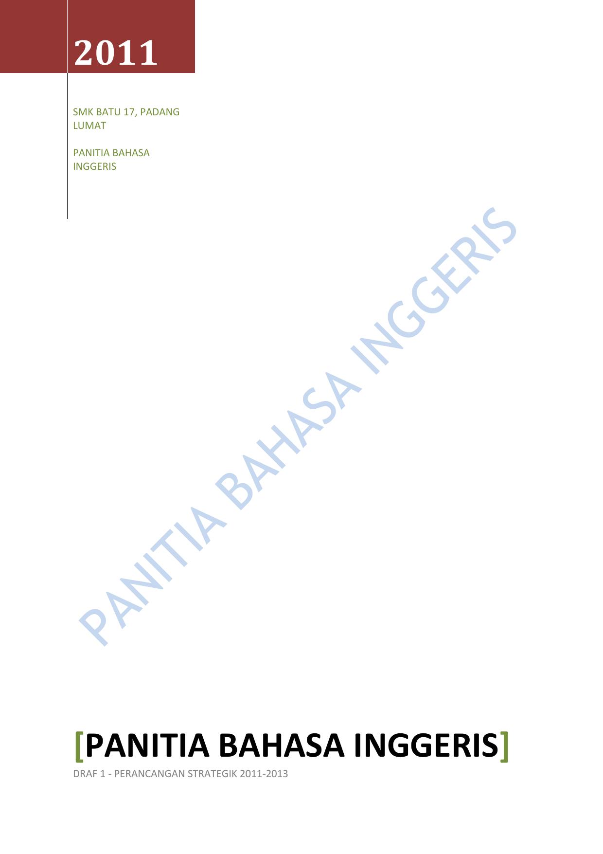 Contoh Panitia English