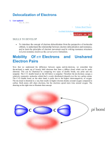 Delocalization of Electrons