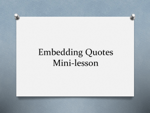embedding quotes mini-lesson