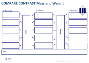 CompareContrast mass weight