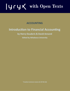 1 - Intro Financial Accounting