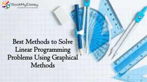 Best Methods to Solve Linear Programming Problems Using | Call Us Today: +1(240)8399485