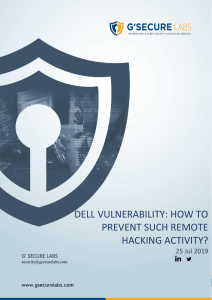 Dell Vulnerability  How to Prevent Remote Hacking Activity
