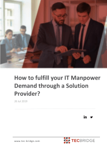 How to fulfill your IT Manpower Demand through a Solution Provider