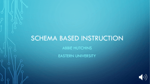 Schema Based Instruction Presentation