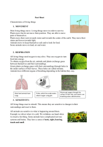 Characteristics of Living Things-1