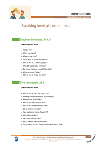 speaking-level-placement-test-business-english