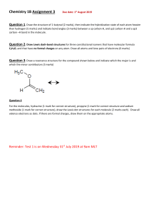 Chemistry 1B Assignment 3