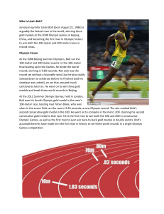 Usain Bolt Velocity & Speed - Physics