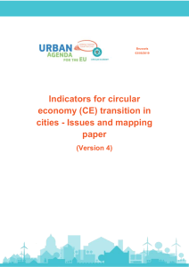 EU Urban Agenda Indicators of Circular Economy Transition in cities