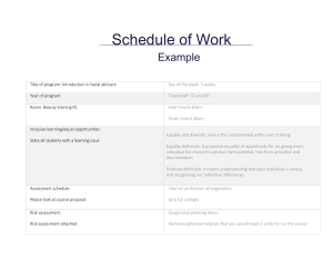Scheme of Work 2016 - Example