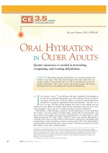 Oral Hydration in Older Adults  Greater awareness.23-2