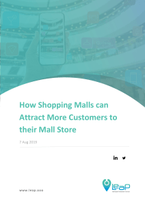 How Shopping Malls can Attract More Customers to their Mall Store