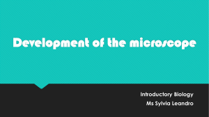 1. Development of the microscope