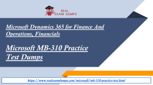 Download MB-310 Practice Question Answers - Free MB-310 Practice Test Dumps - RealExamDumps
