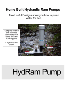 Home Built Hydraulic Ram Pumps