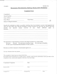 Bullying Report Form