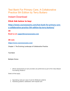 Test Bank For Primary Care, A Collaborative Practice 5th Edition by Terry Buttaro