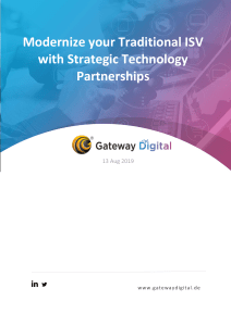 Modernize your Traditional ISV with Strategic Technology Partnerships
