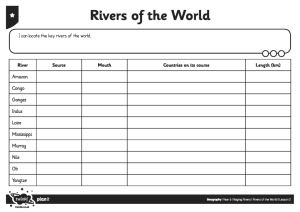 Activity Sheet Rivers of the World - Editable