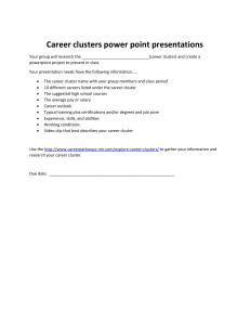 Career clusters power point presentations class assignment