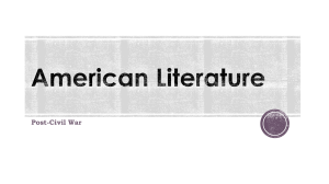 American Literature Post Civl War