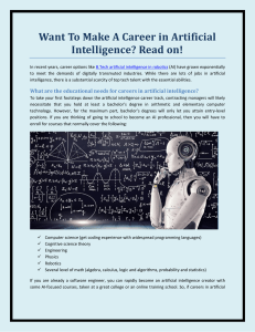 Want To Make A Career in Artificial Intelligence Read on!
