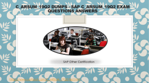 Certsout SAP C ARSUM 19Q2 Questions Answers
