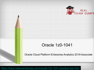 Get Expertly Guidance To Prepare Your Oracle 1z0-1041  Practice Test Dumps Offered By RealExamDumps.com