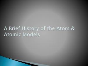 A Brief History of the Atom 19-20
