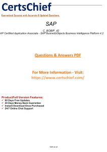 C BOBIP 42 Latest  Dumps - Real Exam Questions 2019
