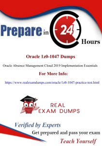 Tips For Passing 1z0-1047 Practice Test Dumps With Our Latest 1z0-1047 Practice Test Dumps