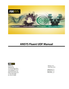 ANSYS Fluent UDF Manual r15.0