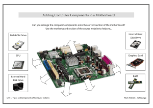 task3-adding components to a motherboard