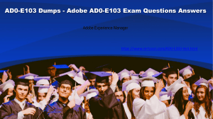 Certsout Adobe AD0-E103 Questions Answers