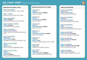SQL-cheat-sheet