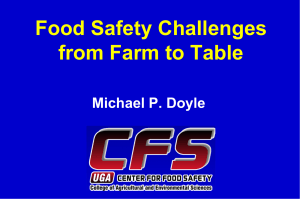 Doyle. Food Safety Challenges from farm to table