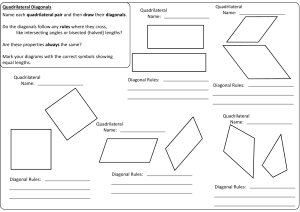 Diagonals Worksheet A4