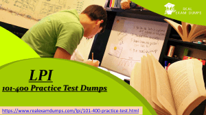 Download Latest LPI  101-400 Practice Test Dumps - RealExamDumps.com