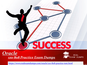 Prepare Oracle  1z0-808 Question Answers - 1z0-808 Practice Test Dumps - RealExamDumps.com