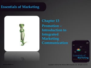Essentials of Marketing chapter 13