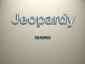 jeopardy - reading