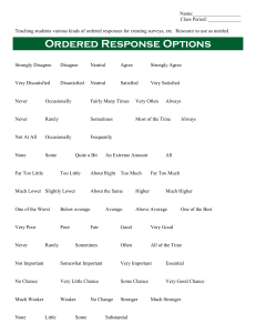Ordered Response Options for surveys