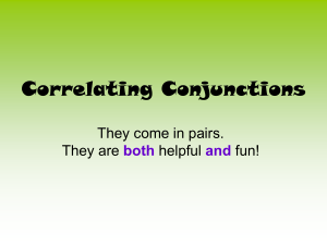 correlating conjunctions