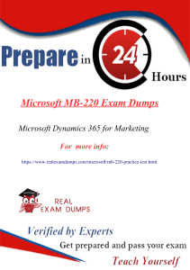 MB-220 Questions Answers - MB-220 Dumps PDF | Realexamdumps.com