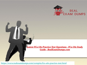 Prepare CompTIA FC0-U61 Question Answers - FC0-U61 Practice Test Dumps - RealExamDumps.com