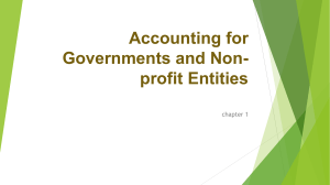 chapter 1 introduction to accounting for governement and non-profit entities