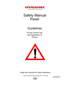 safety manual for paver